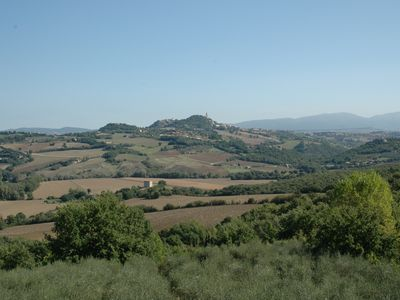 Photo for Villa Alle Querce, Large Farmhouse , stunning view of Todi and large pool