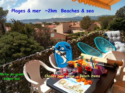Photo for 3 double bedrooms, huge lounge, large south balcony, sea view, garden, toys