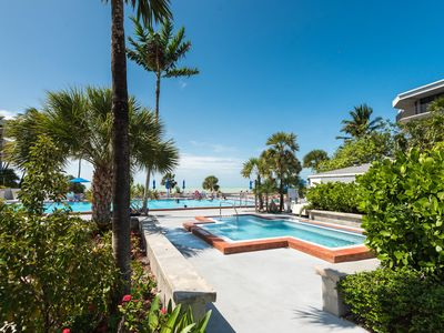 Photo for Comfortable condo w/ shared pool, private balcony, and beach access