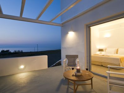 Photo for Sun Anemos  Resort, ''Anemos'' suite in front of the beach of Oia.