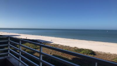 Photo for Newly Renovated, Direct Gulf view condo 2 bed/2 bath new funiture 2 pools BBQ...