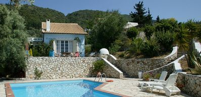 Photo for Villa Kathisma - Traditional Two Bedroom Villa with Air Conditioning, Private Pool, only 800 Meters to Agios Nikitas Beach and Village ! FREE WiFi