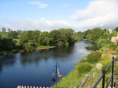 Westerly view of the River Tees, taken from the outdoor dining area