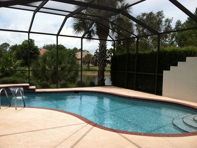 Photo for Naples best location, heated pool, 3 miles to the beach, gated community .