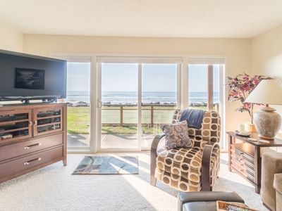 Photo for Ocean front condo just steps to one of the best beaches on the Oregon Coast!
