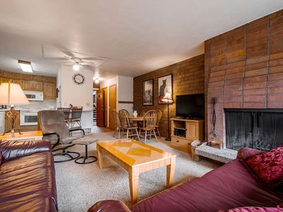 Photo for *FREE SKI RENTAL* Walk to Lower Lifts or 1 Min Walk To Bus Stop! Private Laundry, Fireplace, Hot Tub