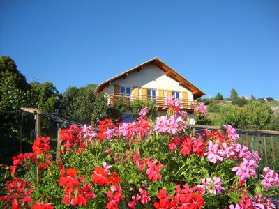 Photo for Contemporary house between Ubaye and Durance overlooking Lake Serre Ponçon
