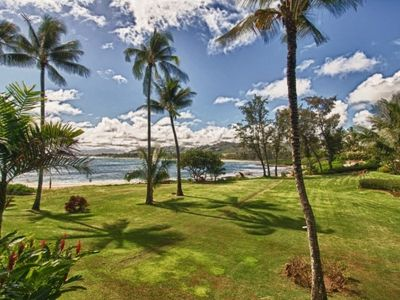 Photo for Only 2 condos from the beach!!!! Great view, exotic Koa wood panelling, king bed