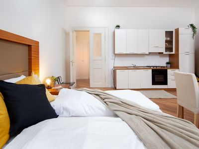 Photo for Two dog-friendly apartments in the heart of Prague w/ well-equipped kitchens