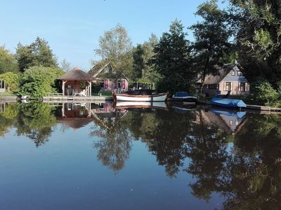 Photo for Cottage with garden on the water, NP Weerribben-Wieden, nearby Giethoorn