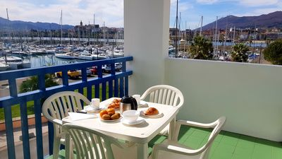 Photo for Beach Studio Superb Terrace facing the marina conveniently placed parking
