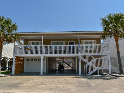 Photo for GOLF CART INCLUDED! Family fun. Sleeps 14. 5 bedroom 3 bath Channel House. Close to beach