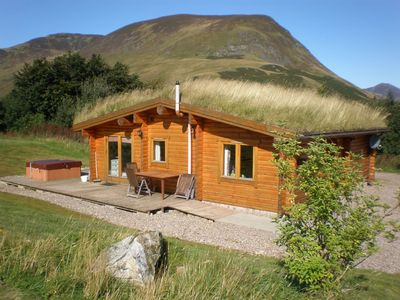 Photo for Log Cabin with Hot Tub & Sauna for 4/5 | In the Cairngorm National Park | Great Views