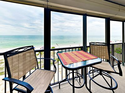 Photo for Posh 1BR Gulf-Front w/ Private Beach & Balcony—Near Shopping &  Recreation