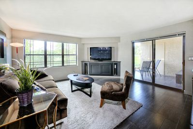 Living space with 50' Pioneer Plasma TV