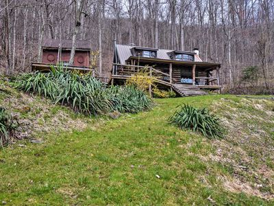 Photo for NEW! Quiet Cabin w/ Mtn Views - 17 Mi to Asheville