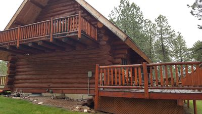 Photo for Beautiful Log Cabin on Secluded 14 Acres