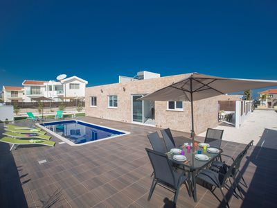 Photo for Villa Noele, Beautiful 3BDR Protaras Bungalow with Pool, Close to Fig Tree Bay