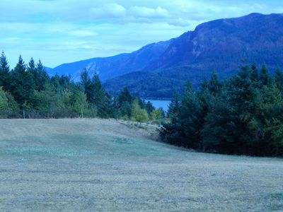 Columbia River and surrounding mountains