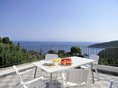 Photo for Stunning Sea Views across the Aegean, Stafilos villa.Total privacy,WIFI