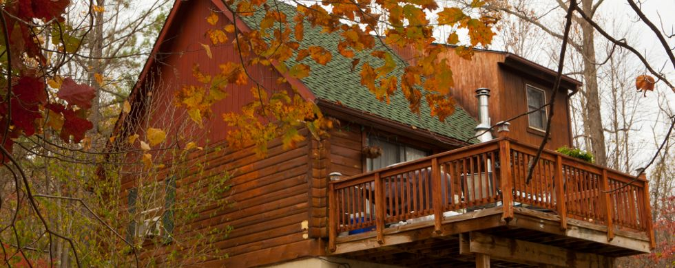 Property Image#7 Secluded Pet Friendly High Tech Log Cabin In The Woods