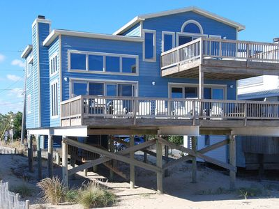Photo for FREE DAILY ACTIVITIES!! Lovely oceanfront home just three lots from the State Park.