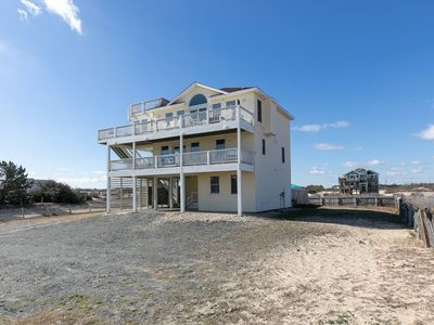 Photo for Now booking for 2021! Corolla 4x4 house: Ocean views, Pool, Hot Tub, Wild Horses