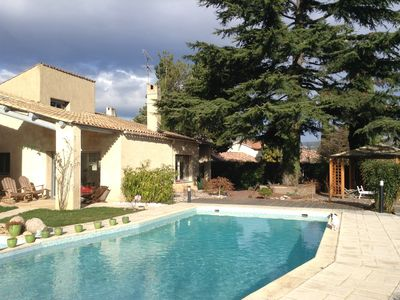 Photo for HOUSE 250m2 with SWIMMING POOL available 15 days July or August.