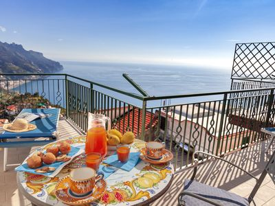 Photo for Residenza Rosalia 2 with Sea View, Private Terraces and Air Conditioning