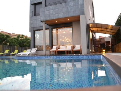 Photo for New modern house with private pool just 15 minutes walk from the sea