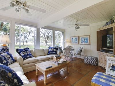 Photo for 3 Bedroom/ 3 Bath Fairway Villa is located just mins from the Beach in Sea Pines Plantation!