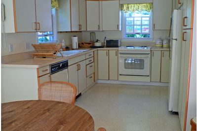 Eat in kitchen with dining area.