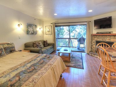 Photo for Studio B110 is furnished with one queen-size memory foam bed, a queen-size sofa bed and a single ...