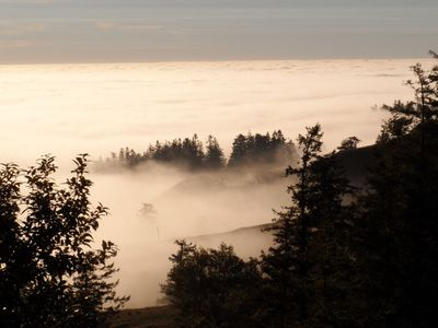 Marine layer on Pacific Ocean that we are usually above.