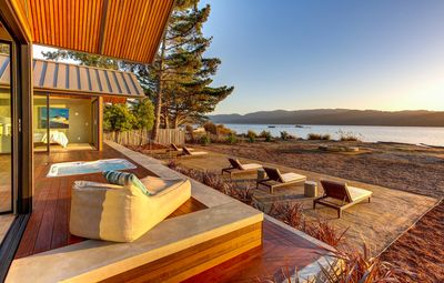 Photo for Bask in the luxury of this Spectacular New Modern Home On shore of Tomales Bay,