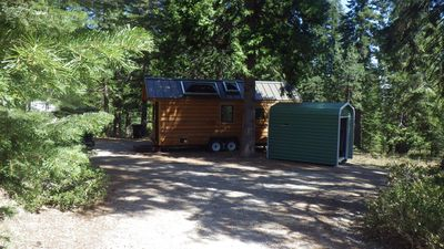 Photo for Custom Built Tiny House located in a forest setting near the town of McCloud, CA