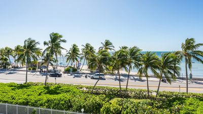 View of the beach and ocean right from your balcony.