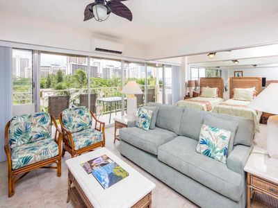 Photo for Ideal for Family/Friends! Open Kitchen, Free WiFi, Washer/Dryer–Waikiki Shore #506