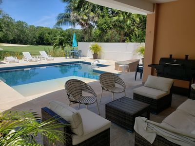 """Photo for """"VILLA D'MAR"""" 4BR PRIVATE POOL, BEACH, GOLF & DOLPHINS"""