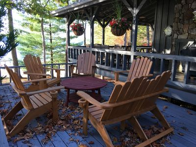 outdoor sun porch on a fall afternoon