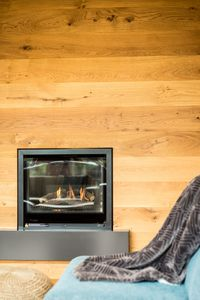 Enjoy the ambiance of the beautiful gas log heater on a winter's evening