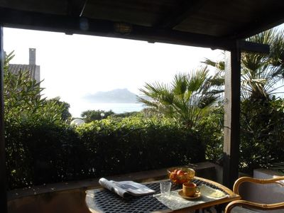 Photo for Charming Villa with Sea View, Wi-Fi, Garden & Terrace; Parking Available