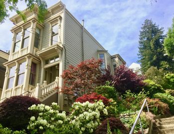 Victorian Home Surrounded By Gardens Above Castro W/ Parking and Views