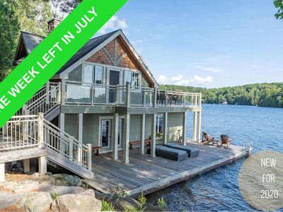 Photo for Stunning Cottage on North Rosseau! Incredible Sunsets! Boathouse! Foosball!