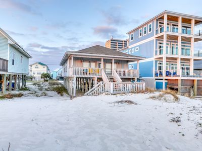 Photo for NEW LISTING! Spacious, beachfront vacation home w/ a covered deck & beach access