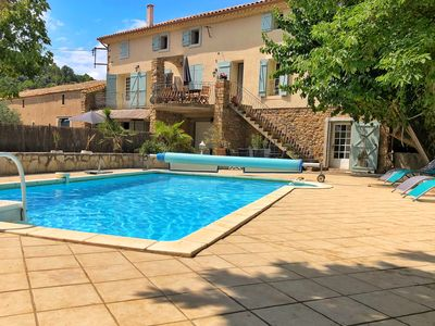 Photo for Traditional Farmhouse, Private HEATED Pool nr Beach, Carcassonne, Canal du Midi
