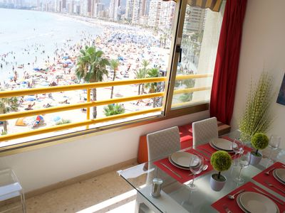 Photo for Benidorm, on Levante Beach! Luxury Apartment with Stunning View. Sleeps 4 max.