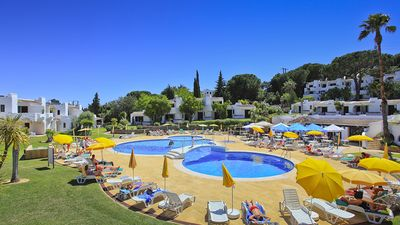 Swimming pool & surrounding areas at Clube Albufeira