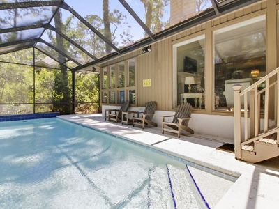 Photo for 14 Forest Drive:3 bedroom home with its own screened in pool and access to Greenwood Forest Amenitie