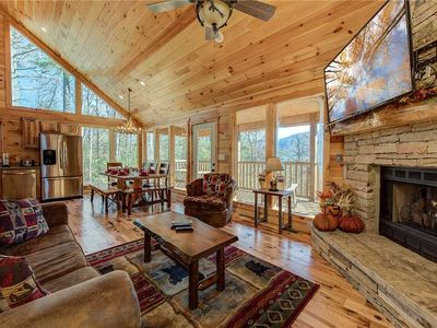 Photo for Rocky Top Lookout, 4 BR, Theater, Arcade, Bumper Pool, Hot Tub, Sleeps 12